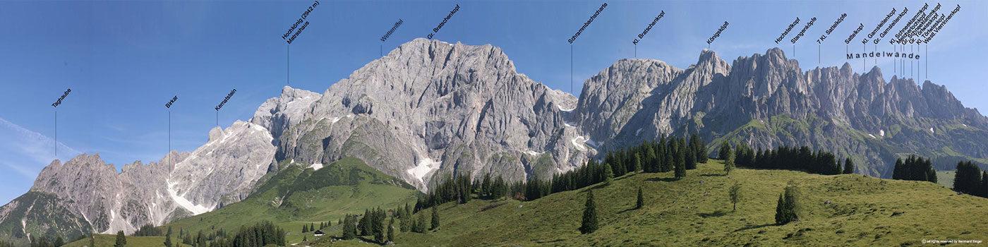 Ausblick in den Norden von der Kopphütte aus, Mühlbach am Hochkönig