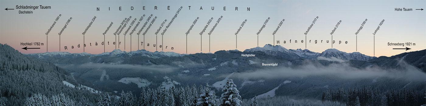 Ausblick in den Süden von der Kopphütte aus, Mühlbach am Hochkönig